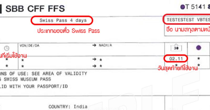 Swiss Pass แบบ E-Ticket เป็นแบบไหน