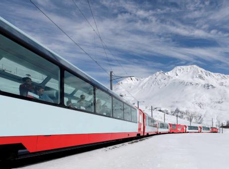 เส้นทางการเดินรถของรถไฟสายชมวิวชนิดต่างๆ ในสวิตเซอร์แลนด์