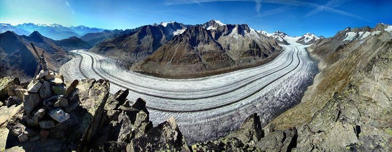 Aletsch Glacier ธารน้ำแข็งที่ใหญ่ที่สุดในเทือกเขา Alps